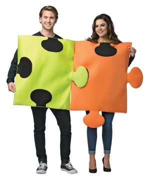 Halloween costumes  sc 1 st  Pinterest & Puzzle Pieces Couples Costume | Halloween Costumes ideas | Pinterest ...
