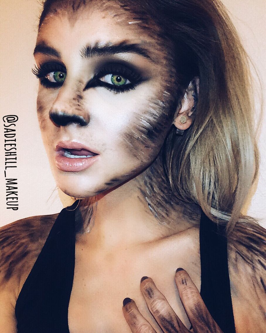 Female Wolf Costume Makeup