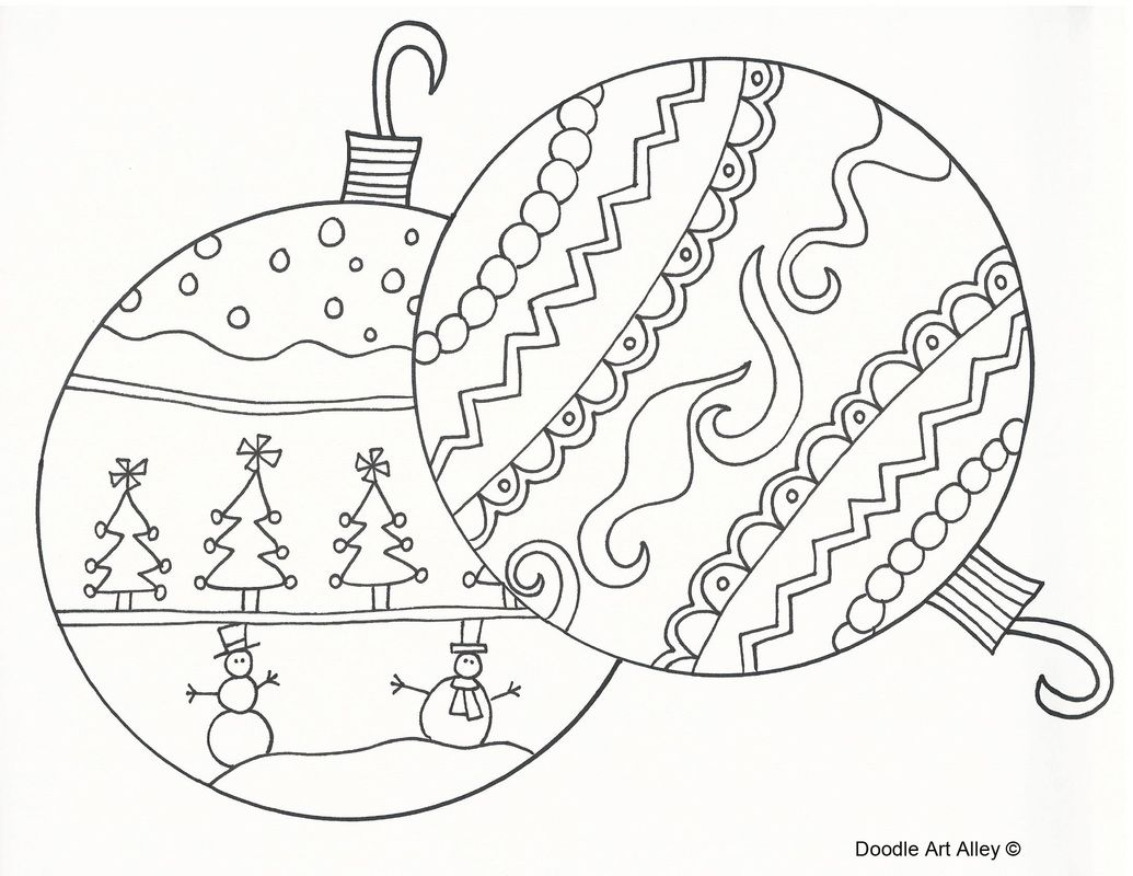 Christmas doodle coloring pages | Free christmas coloring ...