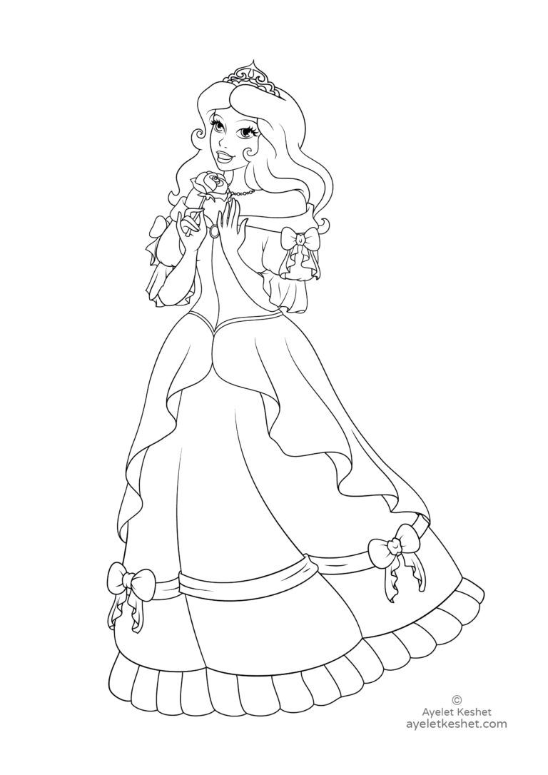 Coloring Pages About Fairy Tales For Kids Disney Princess