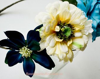 teal flower head wreaths - Google Search