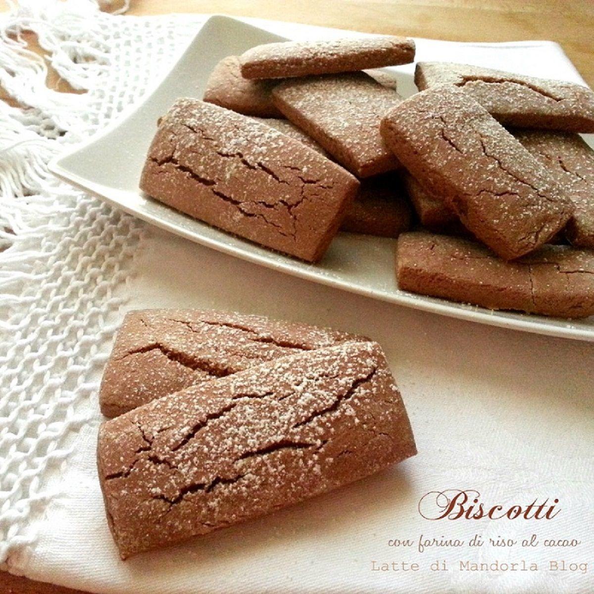 Biscotti Con Farina Di Riso Al Cacao Per La Colazione Ricetta Senza