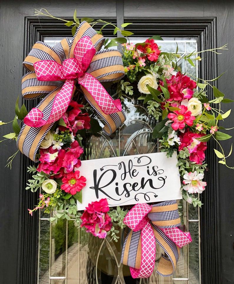 Easter Wreath Spring Wreath In 2020 Spring Wreath Wreaths Easter Wreaths