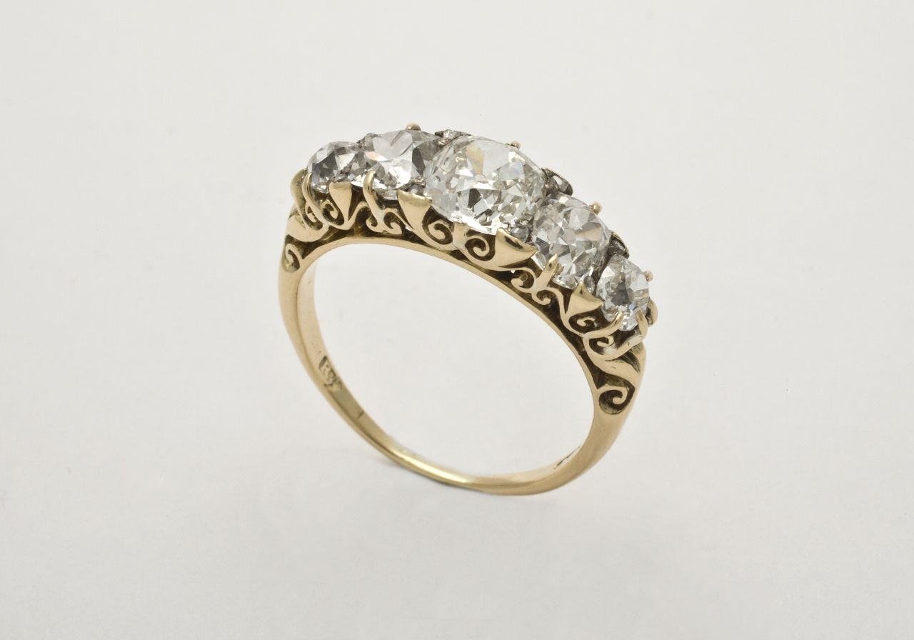 Victorian Engagement Rings 1900 | Fine quality Victorian 5 ...