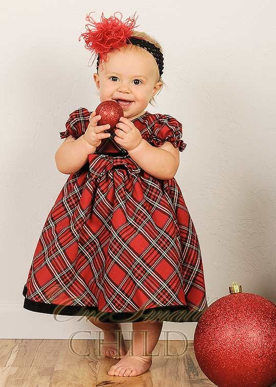 Joy Plaid Baby Holiday Dress | Baby Dresses / Outfits | Pinterest ...