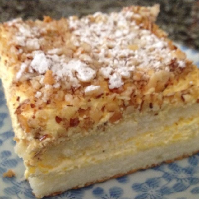Burnt Almond Cake From Peters Bakery San Jose Ca Hometown Bakery