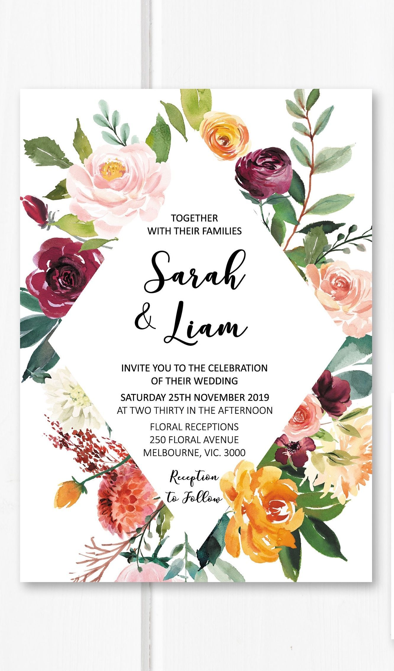 The Magic of Wedding Themes | Burgundy wedding invitations, Garden ...