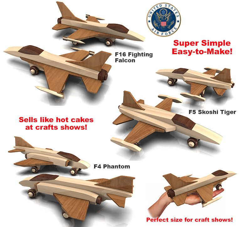 Build The Quick N Easy Vietnam Fighter Planes Full Size Wood Toy