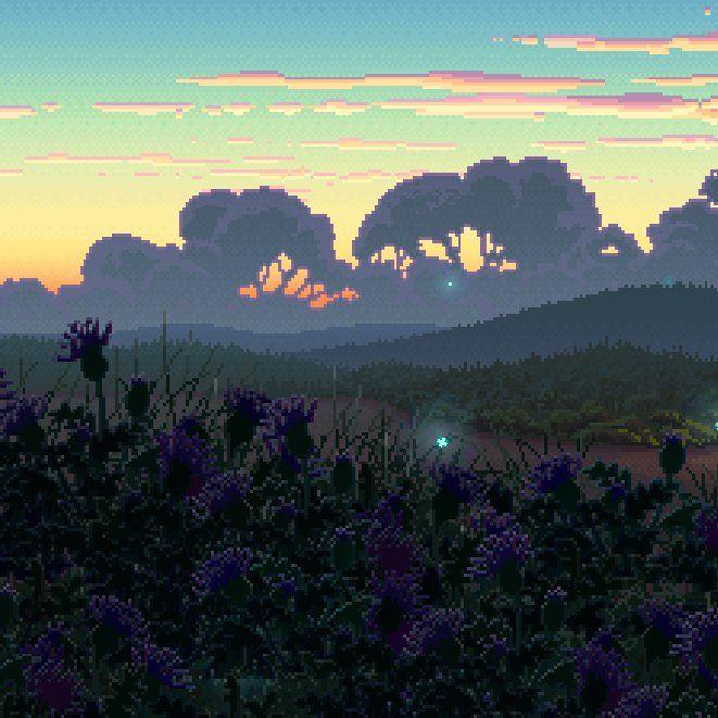 Thimbleweed Park #gamedev #pixelart #landscape