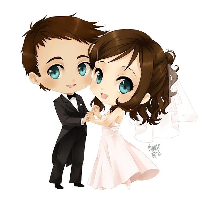 Just Married by meago on deviantART Chibi drawing