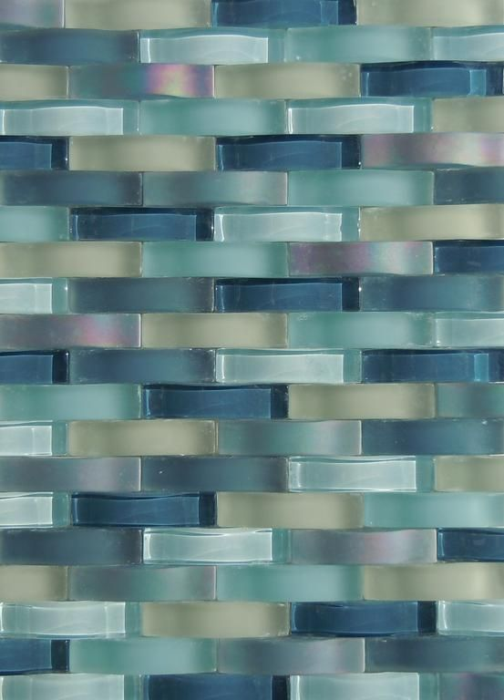 Glass tile backsplash ripple waterfall provided by for Glass instead of tiles in kitchen