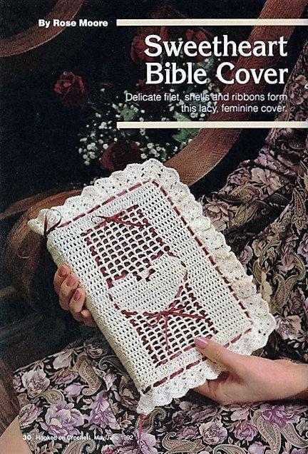 Crochet Bible Cover Pattern Sweetheart Bible Cover Pattern Digital