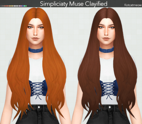 ac2f7cc56 Simpliciaty Muse Hair Clayified for The Sims 4