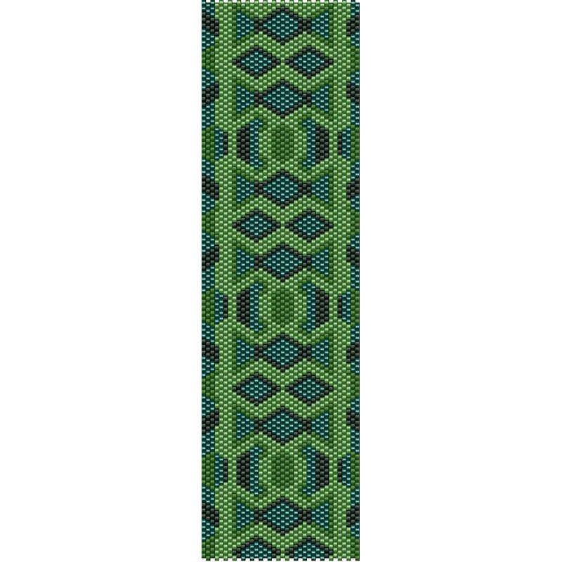 Geometric 46 Peyote Bead Pattern, Bracelet Cuff Pattern, Bookmark ...