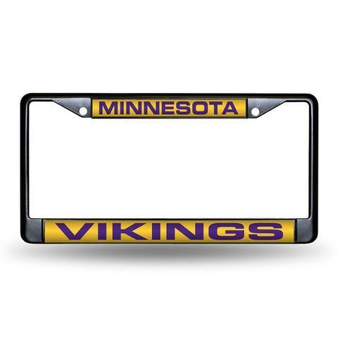 Minnesota Vikings Laser Cut Black License Plate Frame #MinnesotaVikings