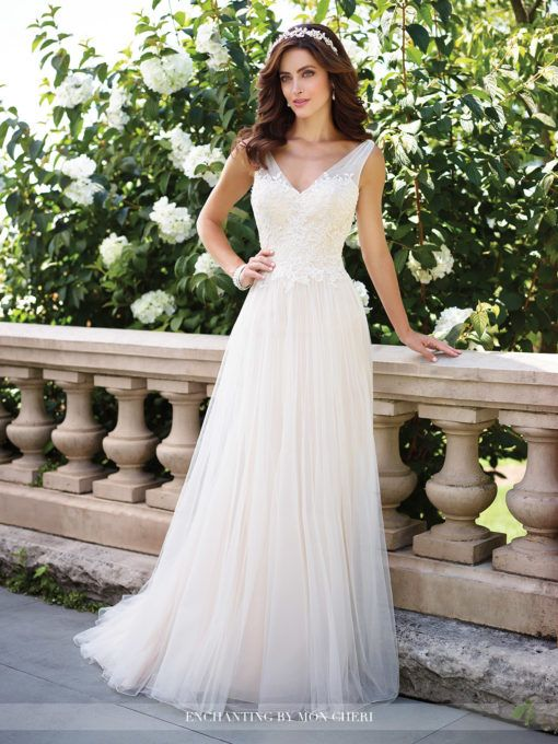 Tulle and Lace A-Line Wedding Dress- 117176- Enchanting by Mon Cheri ...