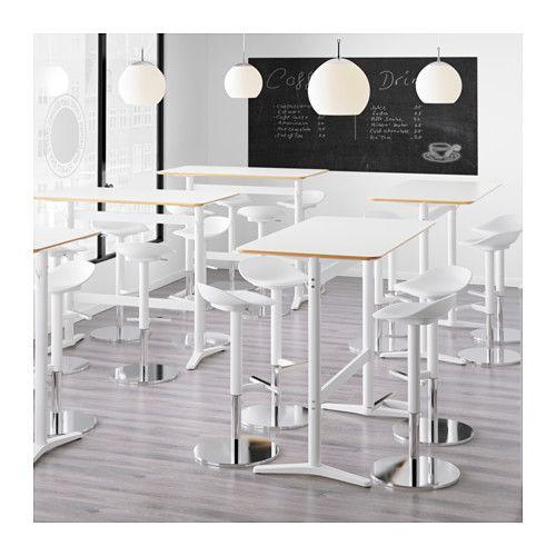 BILLSTA Bar table, white, white Bar table ikea, Office spaces