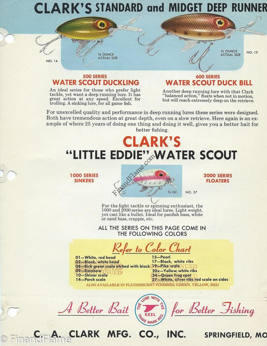 Clark water scout lure chart httpfinandflameclark clark water scout lure chart httpfinandflame nvjuhfo Images