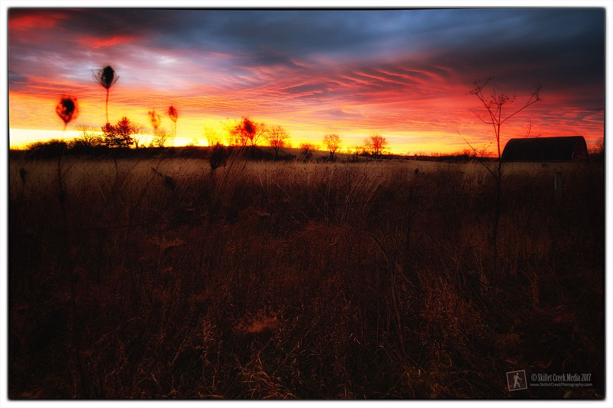 Morning Fire on the Merrimac Preserve