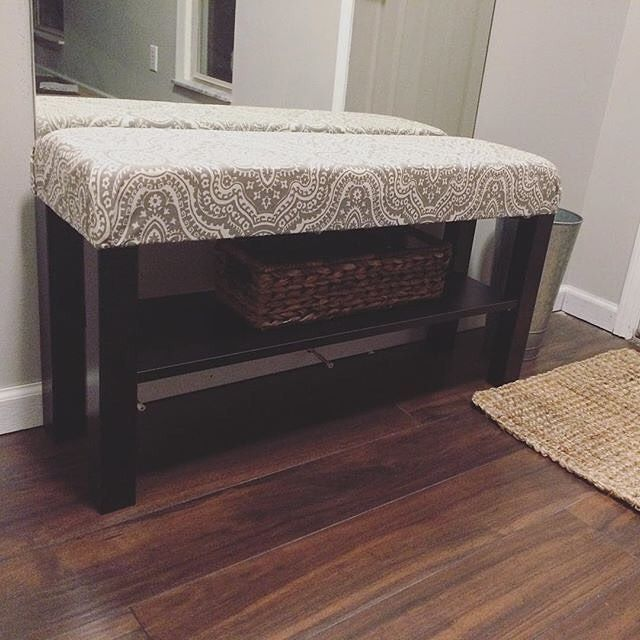 A Lack Tv Stand Turned Into Entryway Bench Mdilley2 Ikea Lack Tv Stand Entryway Bench Cool Furniture