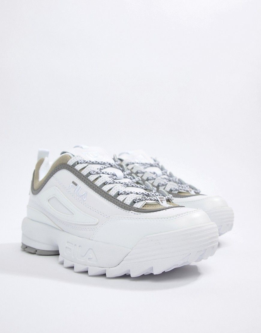 FILA X LIAM HODGES ML3 DISRUPTOR SNEAKERS IN WHITE - WHITE.  fila  shoes 968348d30bb