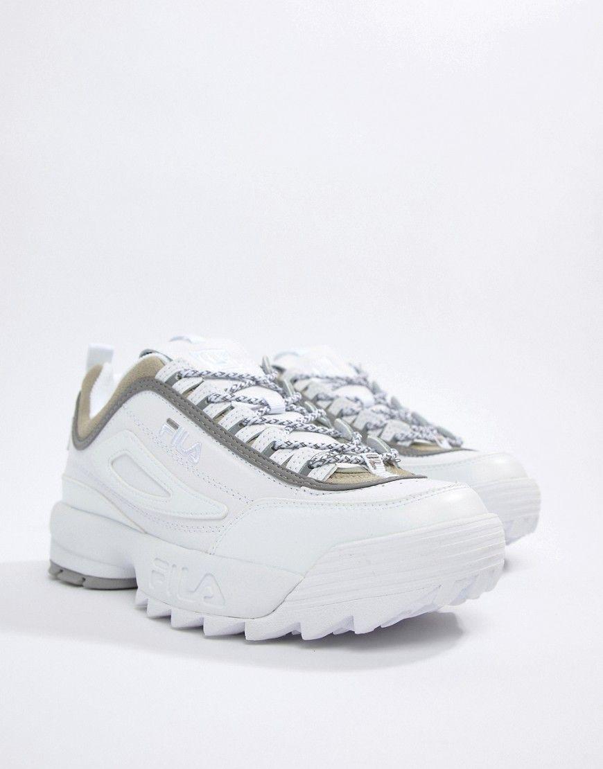 FILA X LIAM HODGES ML3 DISRUPTOR SNEAKERS IN WHITE - WHITE.  fila  shoes 922e91ed89d94