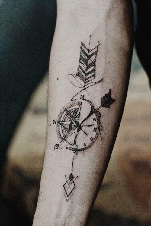 Tatuajes De Brujulas Y Su Significado Fotos Con Los Mejores Disenos Tatuajes Para Hombres Tatuaje De Flecha Y Brujula Tatuajes Brujula