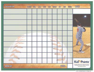 Baseball Chore Chart Behaviour Chart Printable Chart Printables Kids