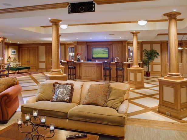 Photo of Basement-Turned-Media Room | HGTVRemodels.com #recreationalroom #recreational #r…