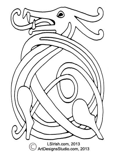 wood carving a celtic dragon knot pattern by lora s irish celtic rh pinterest com