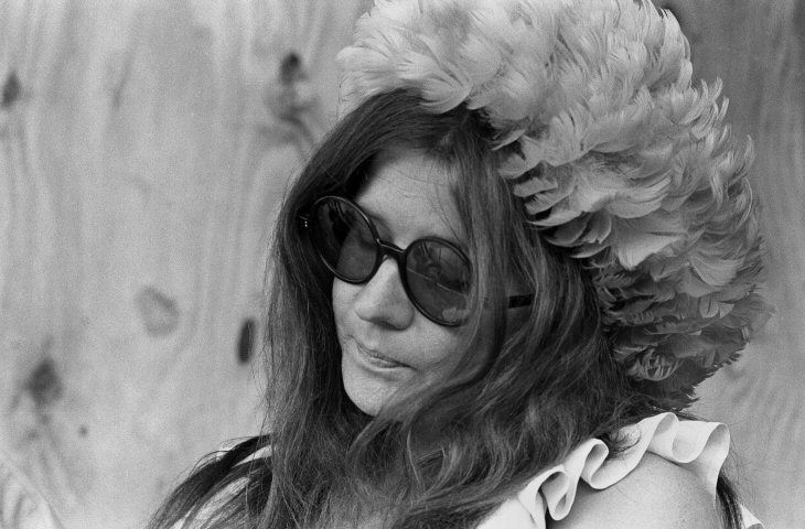 """Janis was, for the most part, oblivious to their rays, because she carried around a private world into which she could retire. Amid all the indigestible flux of these places, she would plump herself down, as ripe as a pear in August, singing snatches of old songs to herself - personal incantations to ward off the environment, a bane against accumulated apprehensions. Usually they were not the kind of things she'd sing on stage - Merle Haggard, old Bessie Smith numbers..."""