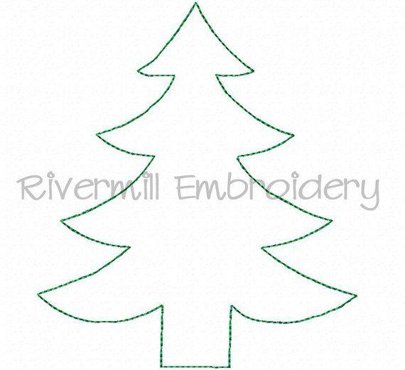 Raggy Christmas Tree Applique Machine Embroidery Design 4 Etsy Christmas Applique Machine Embroidery Christmas Christmas Tree Template