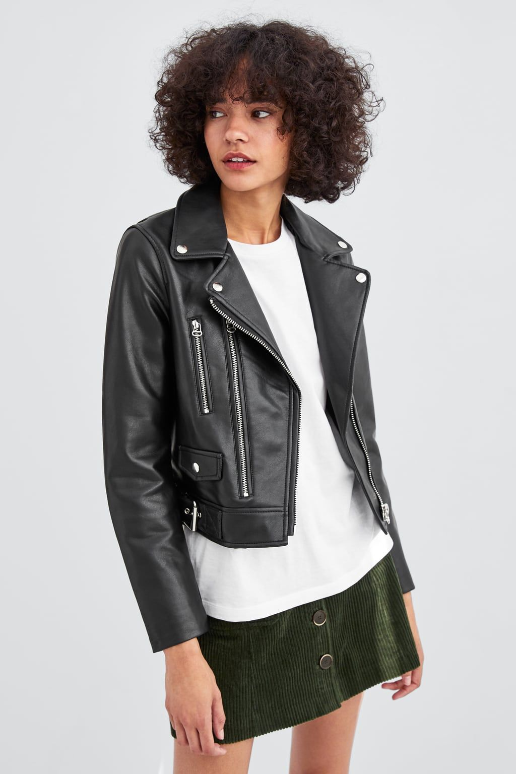 Image 6 of FAUX LEATHER BIKER JACKET from Zara Faux