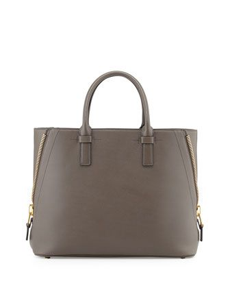 Tom Ford Jennifer Medium Trap Tote Bag Graphite Tom Ford