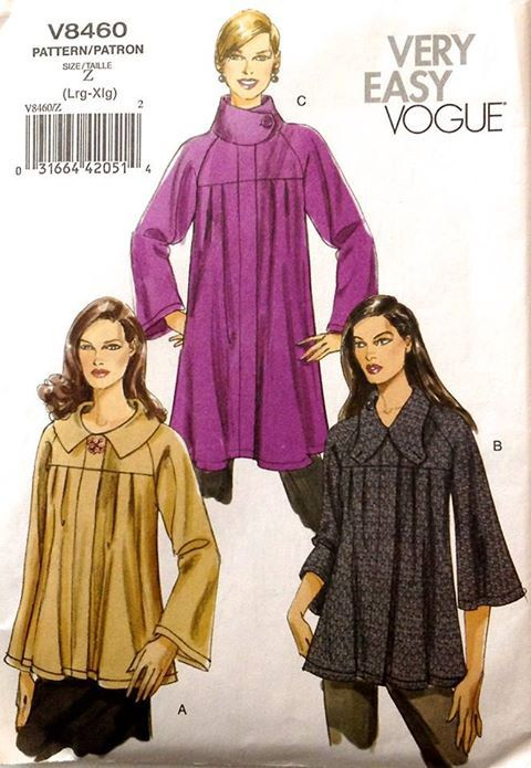Vogue Jacket Sewing Pattern Plus Size Loose Fitting Jackets