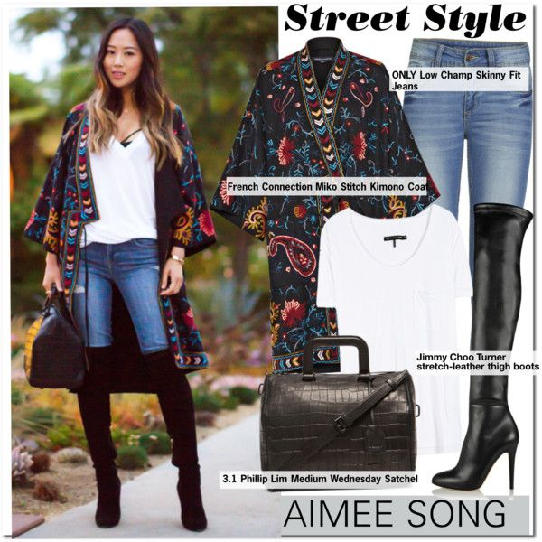 Street Style-Aimee Song by kusja on Polyvore featuring mode, rag & bone…