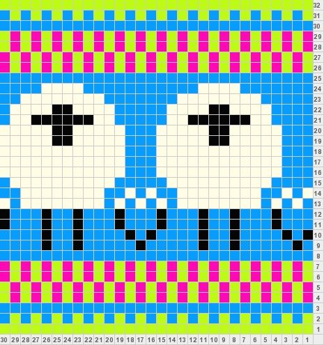 Hat chart #10 | Fair isle mitten patterns/charts | Pinterest ...