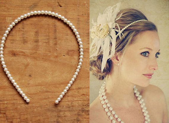 Pearl Headband by CurlyGurlycouture on Etsy, $12.00