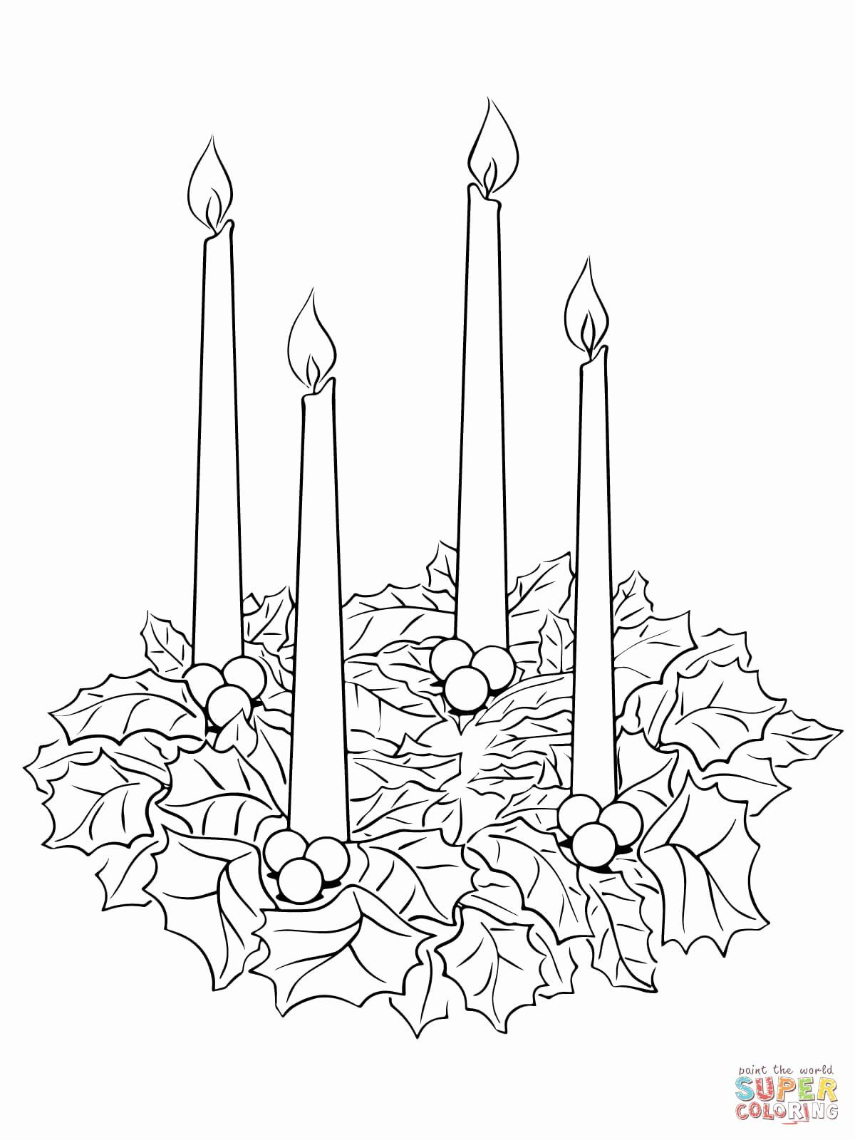 Advent Wreath Coloring Page Fresh Advent Wreath Coloring Page Advent Coloring Christmas Coloring Pages Wreath Printable