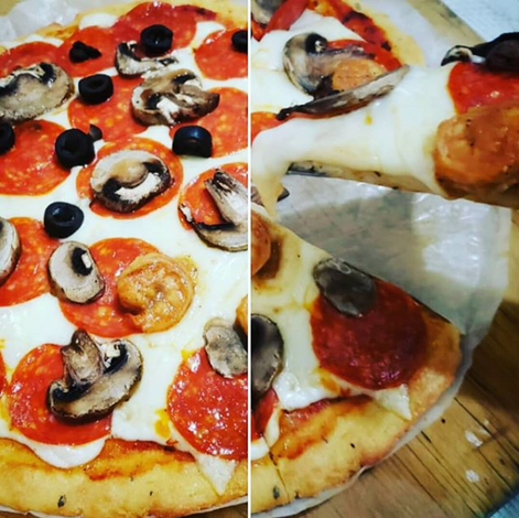 Keto pizza / baja en carbohidratos, lowcarb pizza, cetogénica – Düşük karbonhidrat yemekleri