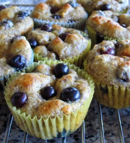 Recipe for Low Carb Blueberry Buttermilk Muffins