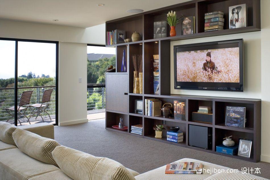 普通家庭客厅电视背景墙装修效果图 设计本装修效果图 Contemporary