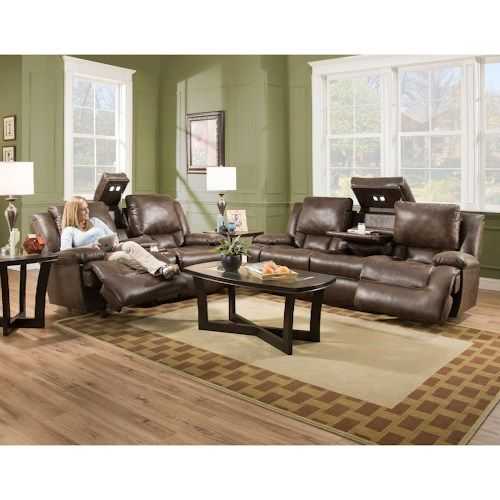 Franklin Excalibur Reclining Living Room Group Furniture Living