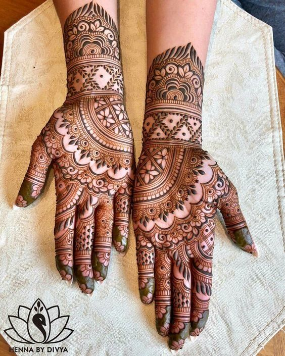 Top 111+ Simple Mehndi Designs is part of Indian mehndi designs, Simple mehndi designs, Mehndi designs for hands, Indian henna designs, Palm mehndi design, Mehndi designs feet - Mehndi, also known as henna across the globe, is a paste often associated with good fortune and positivity  It is one of the oldest forms of body art originated by humans  Women and girls get their hands and feet laden with this paste on auspicious occasions  Be it weddings or festivals like Diwali,