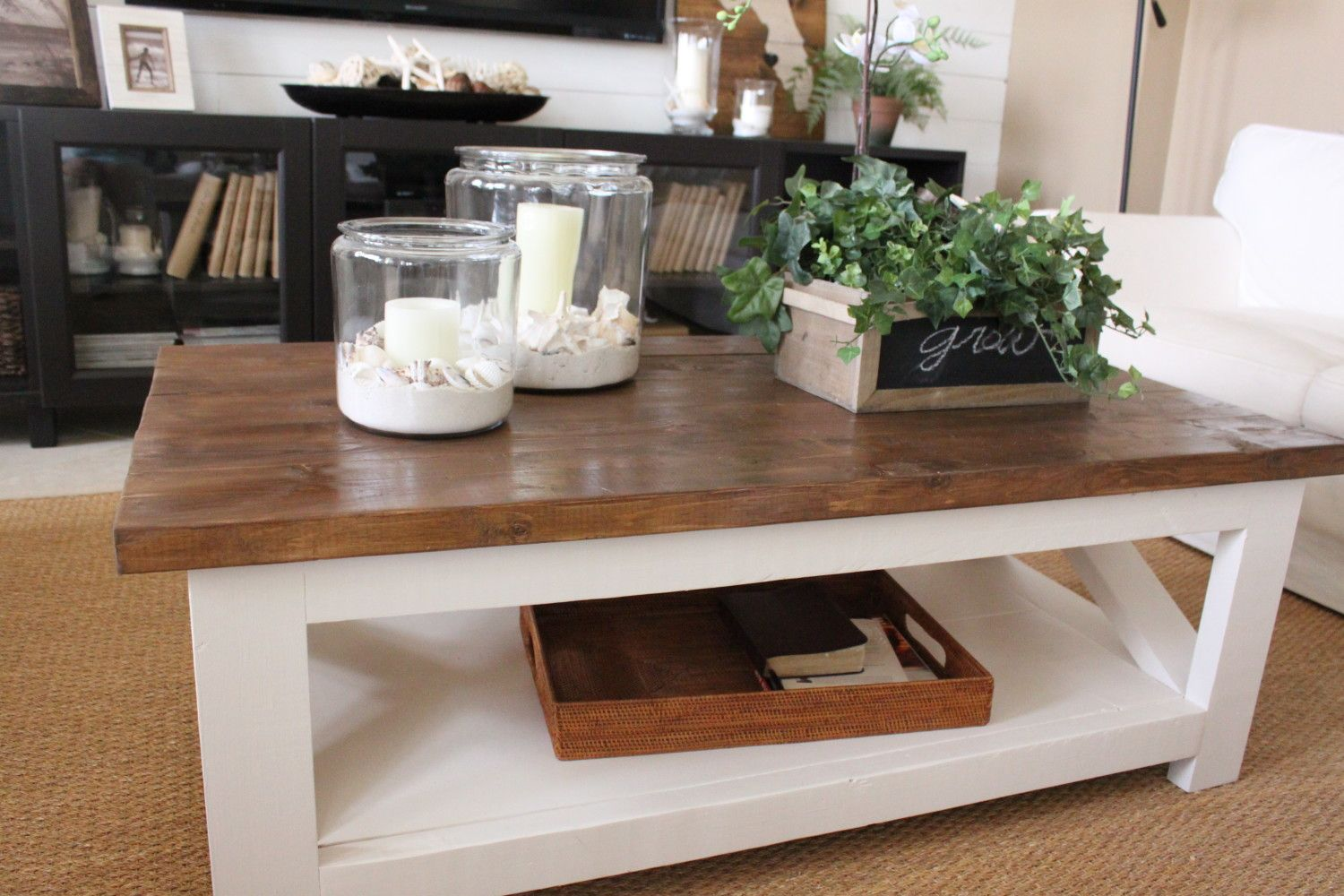 A New Rustic Coastal Coffee Table Decorating Coffee Tables Decor Table