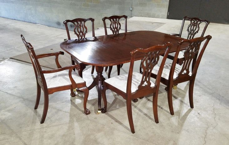 Councill Craftsman Mahogany Dining Table With 3 Mahogany