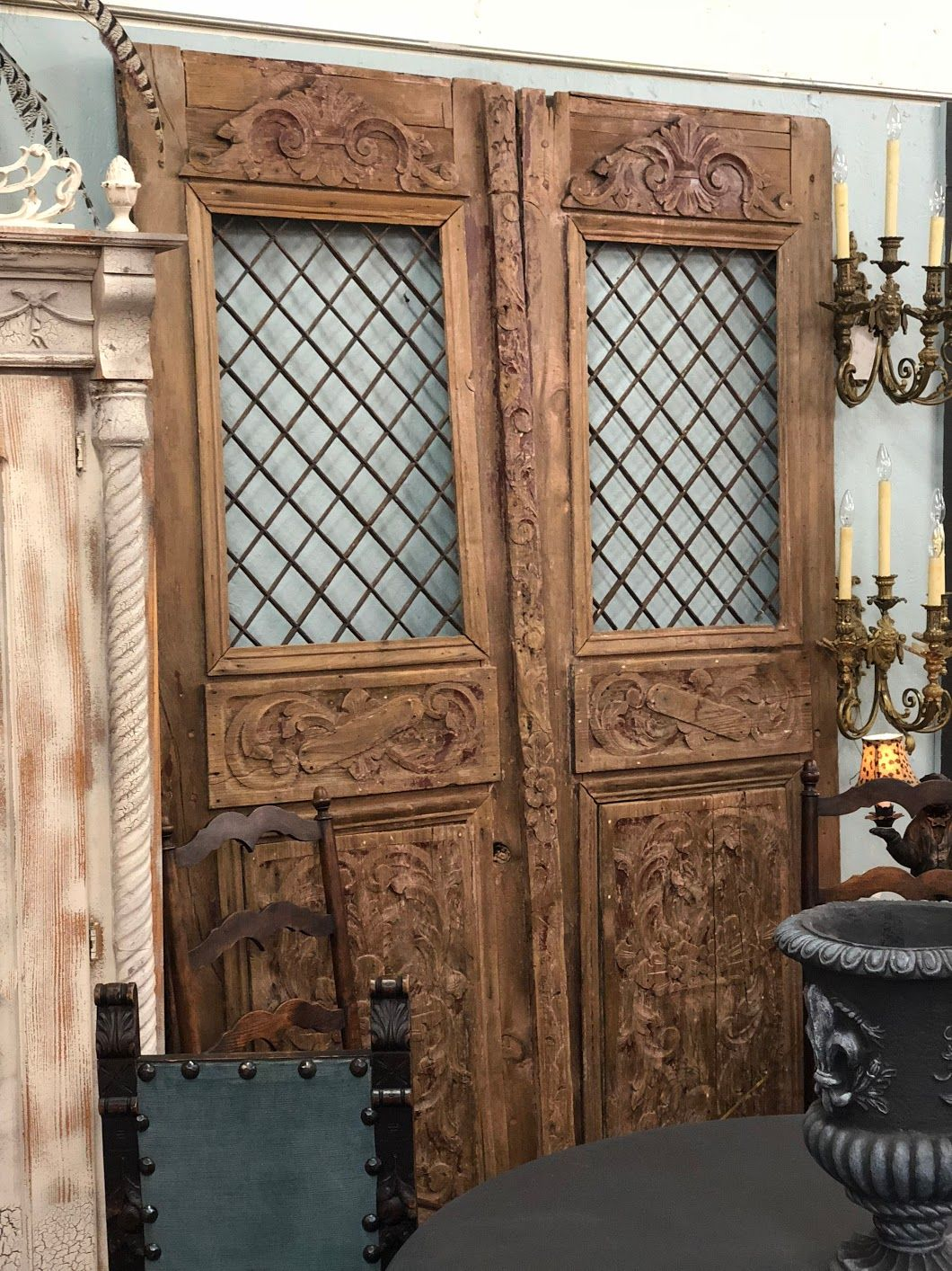 Antique Garden Doors From English Colony In India 30