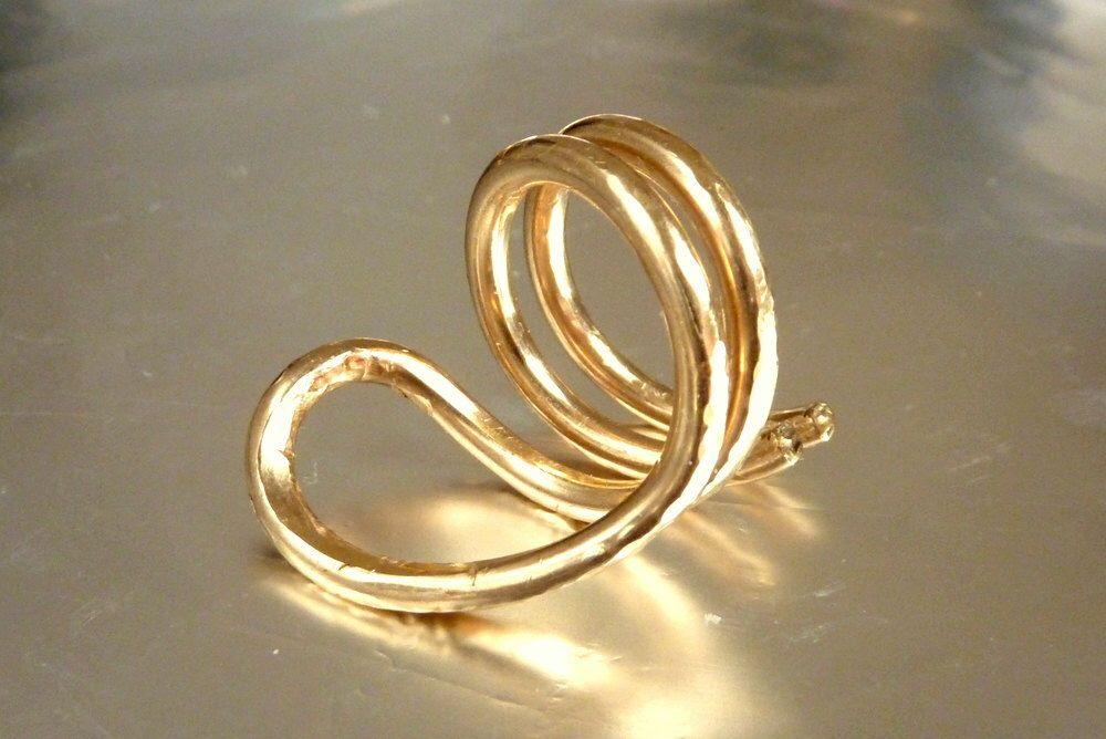 Modern Gold Ring - Cobra Snake Statement Ring - Yoga Naga Asana Shape - Gold Filled Organic Shape Ring Handmade by Dany B - Venexia Jewelry by VenexiaJewelry on Etsy https://www.etsy.com/listing/88719437/modern-gold-ring-cobra-snake-statement