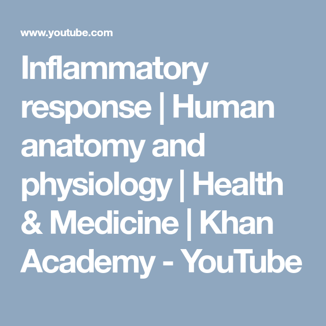 Inflammatory response | Human anatomy and physiology | Health
