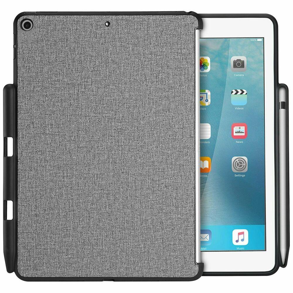 Ipad 9 7 2018 17 6th Gen 5th Gen Back Case Cover W Apple Pencil Holder Edge Procase Apple Pencil Holder Tablet Case Keyboard Case